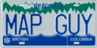 MapGuy license plate